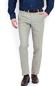 Formal Mens Dark Grey Lycra Trouser