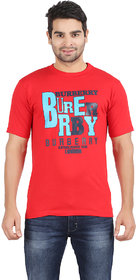 Bigins Men's Casual Red Tshirts