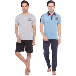 Mens Casual Top, Pyjama  Shorts Set Combo by Valentine