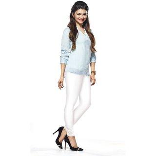 Womens White Churidar Leggings Free Size