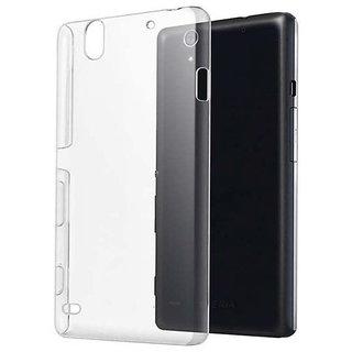 Romito Silicon Soft Back Cover Case For Micromax Canvas Nitro 4G E455- Trasnparent (Totu)