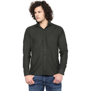 Rodamo Olive Casual Shirts For Men