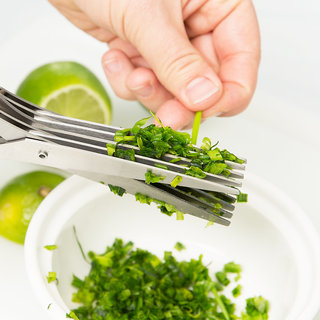 Ezzideals 5 Blades Scissors Vegetable Chopper Paper Shredder Cutting Scissor
