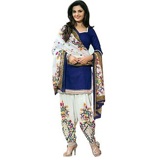 Dealsure Cotton Printed Salwar Suit Dupatta Material (Un-stitched)