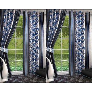 K Decor Set of 4 Beautiful Polyester Door Curtains (DCN4-036)