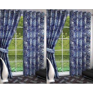 K Decor Set of 4 Beautiful Polyester Door Curtains (DCN4-043)