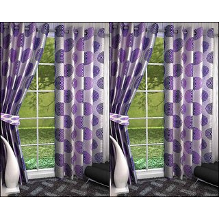 K Decor Set of 4 Beautiful Polyester Door Curtains (DCN4-065)