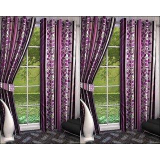 K Decor Set of 4 Beautiful Polyester Door Curtains (DCN4-067)