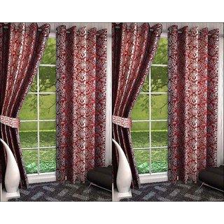 K Decor Set of 4 Beautiful Polyester Door Curtains (DCN4-069)