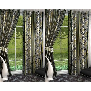 K Decor Set of 4 Beautiful Polyester Door Curtains (DCN4-083)