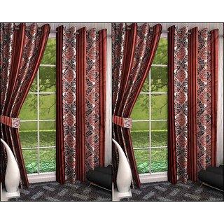K Decor Set of 4 Beautiful Polyester Door Curtains (DCN4-090)