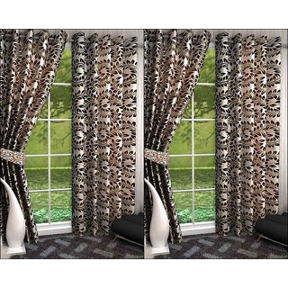 K Decor Set of 4 Beautiful Polyester Door Curtains (DCN4-091)