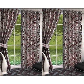 K Decor Set of 4 Beautiful Polyester Door Curtains (DCN4-093)