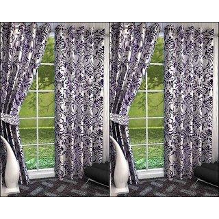 K Decor Set of 4 Beautiful Polyester Door Curtains (DCN4-094)
