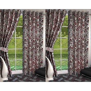 K Decor Set of 4 Beautiful Polyester Door Curtains (DCN4-095)