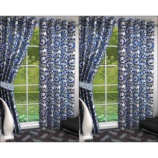 K Decor Set of 4 Beautiful Polyester Door Curtains (DCN4-098)