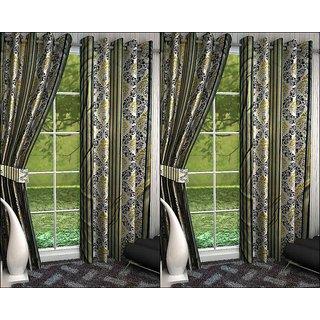 K Decor Set of 4 Beautiful Polyester Door Curtains (DCN4-099)