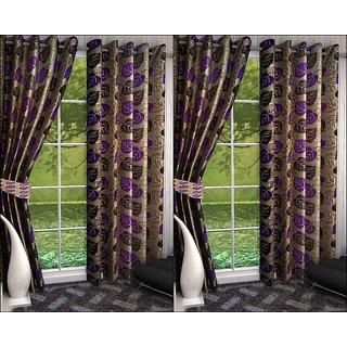 K Decor Set of 4 Beautiful Polyester Door Curtains (DCN4-100)