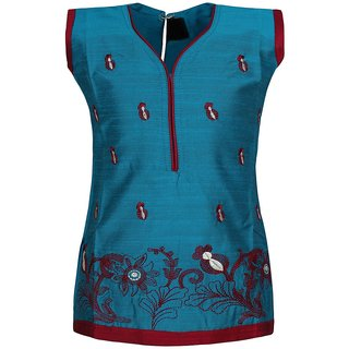 Jazzup Cotton Embroidered Kurti For Girls-(KZ-ART1213)