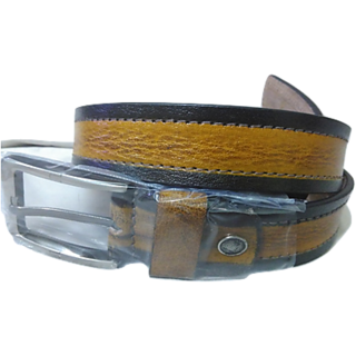 Mens Genuine Leather Casual Belt Brown/Black Colour