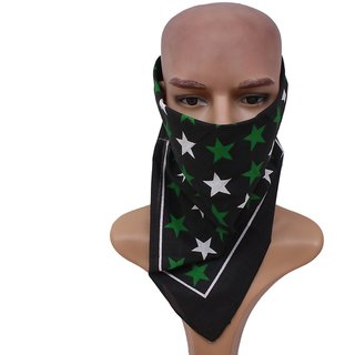 Sushito  Black Starred Design Headwrap JSMFHHR0233