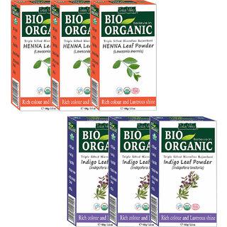 Buy Indus Valley Bio Organic Indigo Red Henna Triple Pack Hair