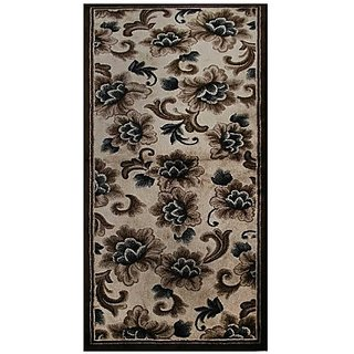 Carpets Brown Cotton Area Rug(66 cm X 152 cm)