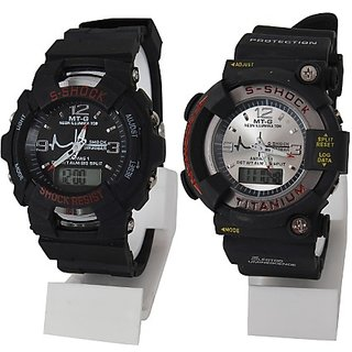 S-Showy Sport Multifunction Dual Watch Combo for Men