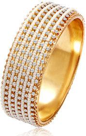 Sukkhi Gold Plated Gold & White Alloy Bracelets For Women