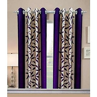 Geonature Purple Kolavery Polyster Door Curtains Set Of 4 Size 4x7 (G4CR7F-190)