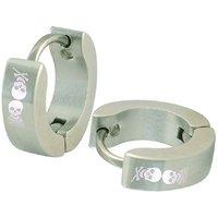 Men Style Silver Design Hoop Earring