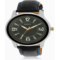 Adine Black Dial Analog Watch (AD-6017BLACK-BLACK)