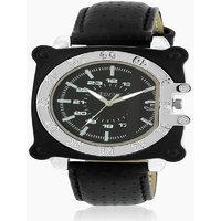 Adine Silver Dial Analog Watch (AD-6022BLACK-SILVER)