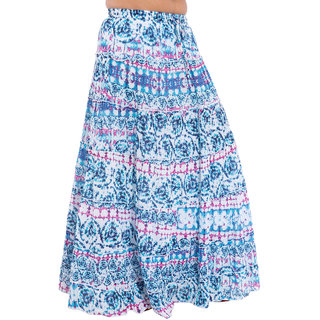 SML Originals Printed Multi Color Cotton Long Skirt (SML533)