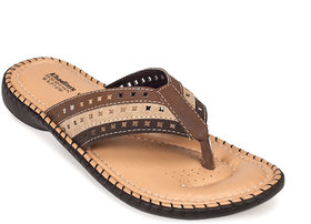 Khadims Womens Brown Slip-on Flats