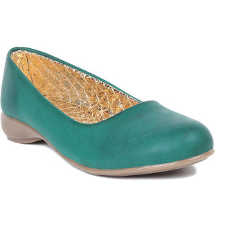 MSC Green Casual Synthetic Leather Womens Footwears