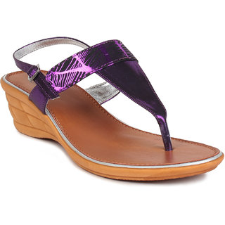 MSC Purple Casual Synthetic Leather Womens Footwears