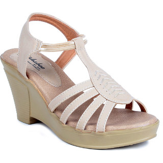 MSC White Casual Synthetic Leather Womens Footwears