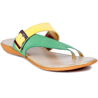 MSC Yellow Casual Synthetic Leather Womens Footwears