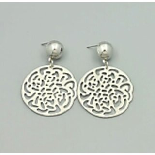 Flower cut out earrings ER0016