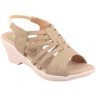 MSC Women's Beige Sandals