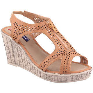 MSC Beige Casual Synthetic Leather Womens Footwears