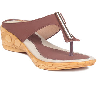 MSC Brown Casual Synthetic Leather Womens Footwears