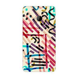Designer Plastic Back Cover For HTC One