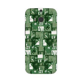 Designer Plastic Back Cover For HTC One (M8)