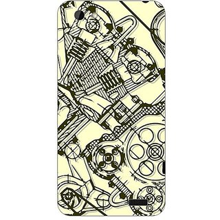 Designer Plastic Back Cover For HTC One V
