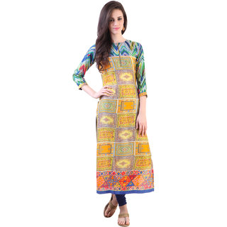 Libas Multi Rayon Printed Kurta For Women