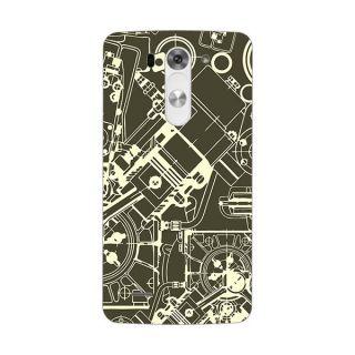 Designer Plastic Back Cover For LG G3 Beat