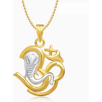 Om Ganpati God Pendant With Chain Lockets For Men And Women Gp254