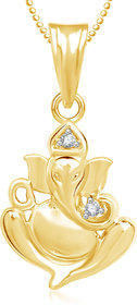 Ganpati God Pendant With Chain Lockets For Men And Women Cz Gp270